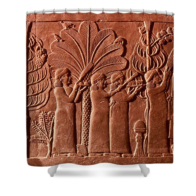 645 B.c. Shower Curtain featuring the photograph Assyrian Queen, 645 B.c by Granger