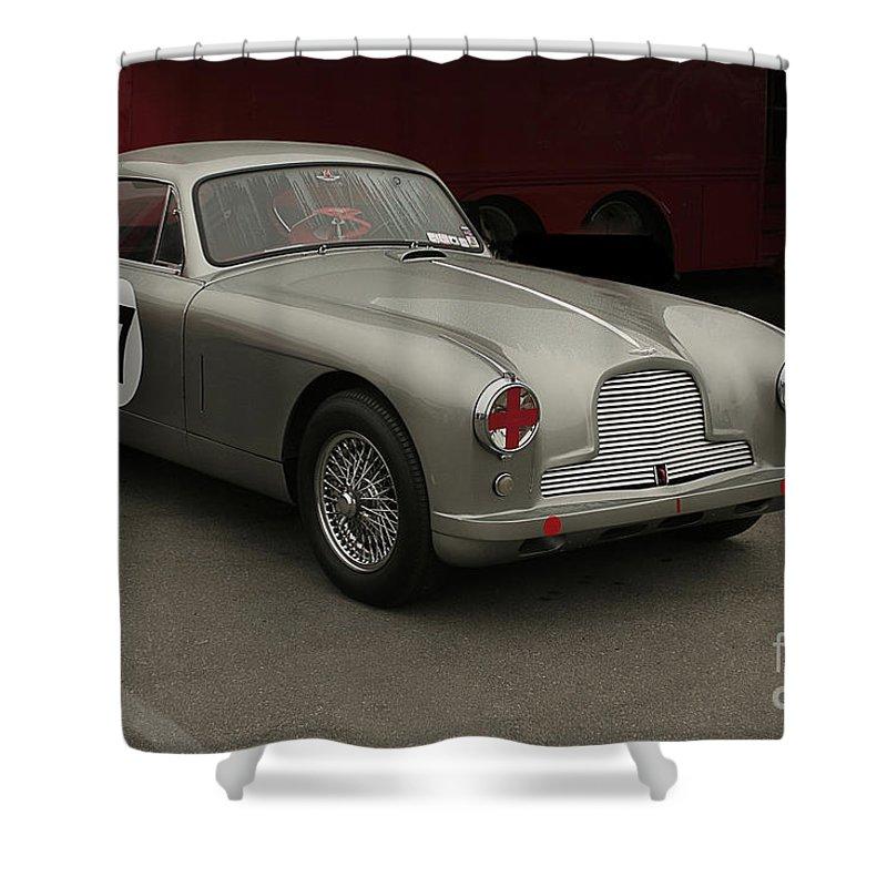 Aston Martin Shower Curtain featuring the photograph Aston Martin Db-21953 by Curt Johnson