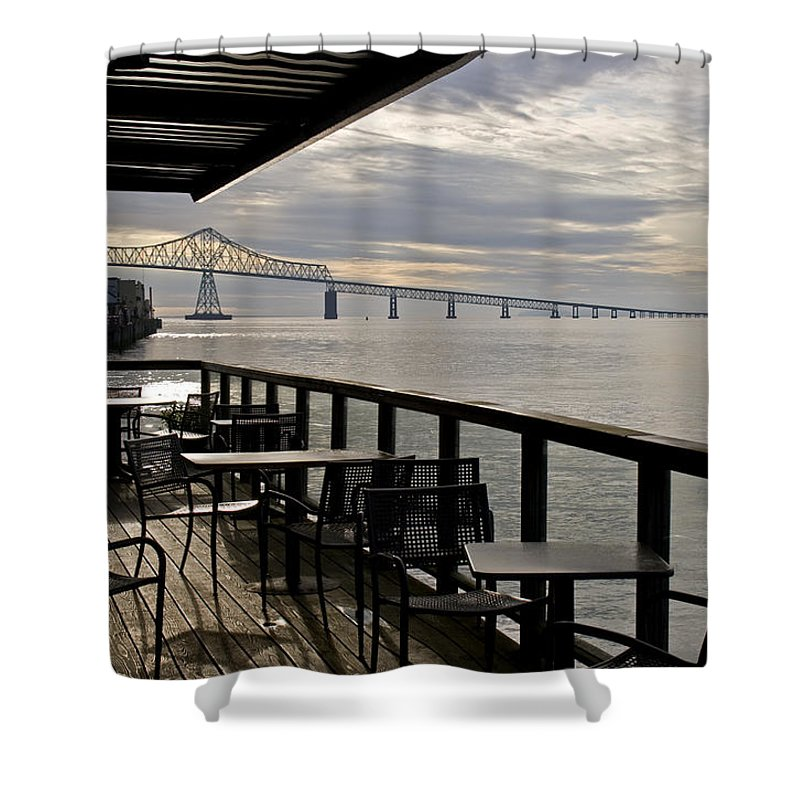 Scenic Shower Curtain featuring the photograph Astoria by Lee Santa