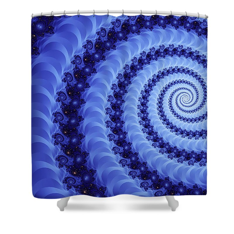 Clay Shower Curtain featuring the digital art Astral Vortex by Clayton Bruster