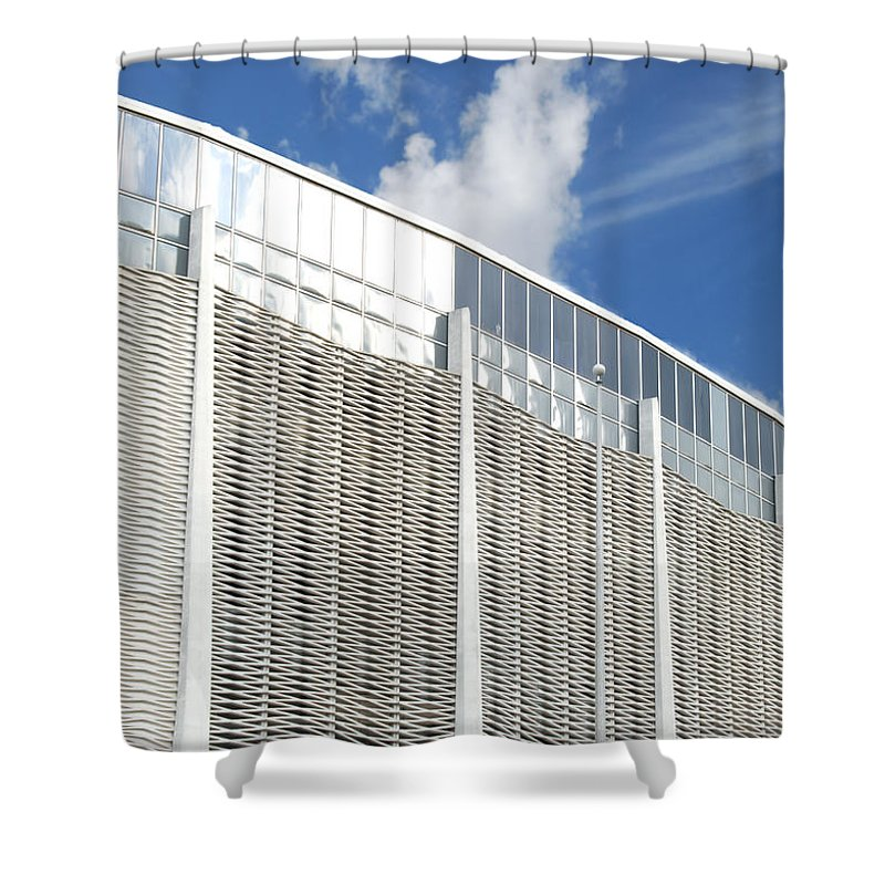 Wright Fine Art Shower Curtain featuring the photograph Astrodome by Paulette B Wright