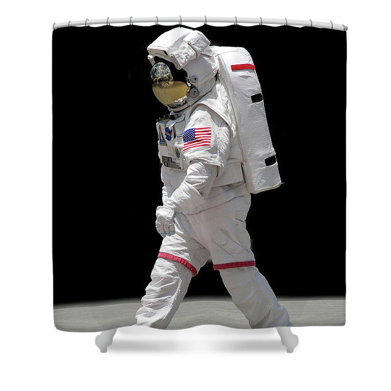 Apollo Shower Curtain featuring the photograph Astronaut by Francesa Miller