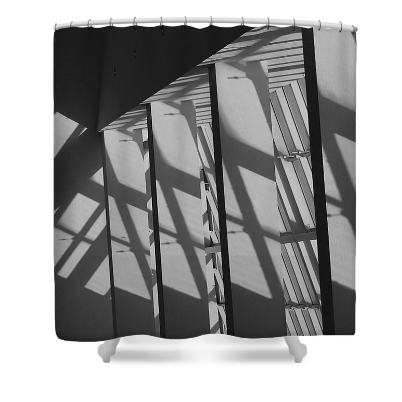 Shades Shower Curtain featuring the photograph Asylum Windows by Rob Hans