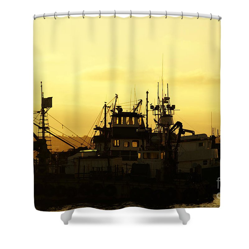 San Diego Shower Curtain featuring the photograph At Days End by Linda Shafer
