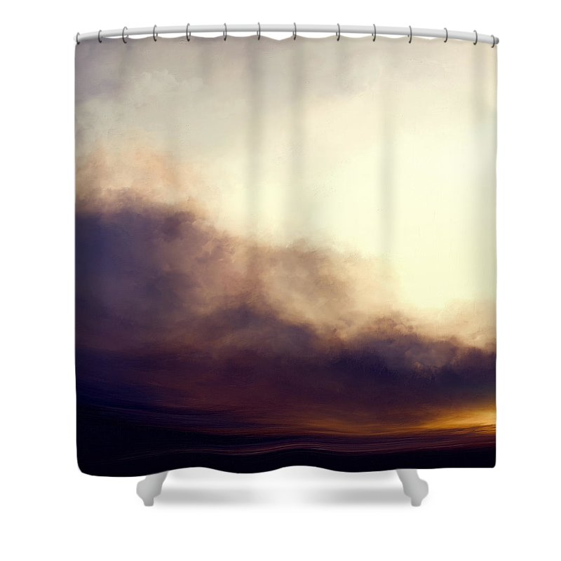 Lc Bailey Shower Curtain featuring the painting At Dusk by Lonnie Christopher