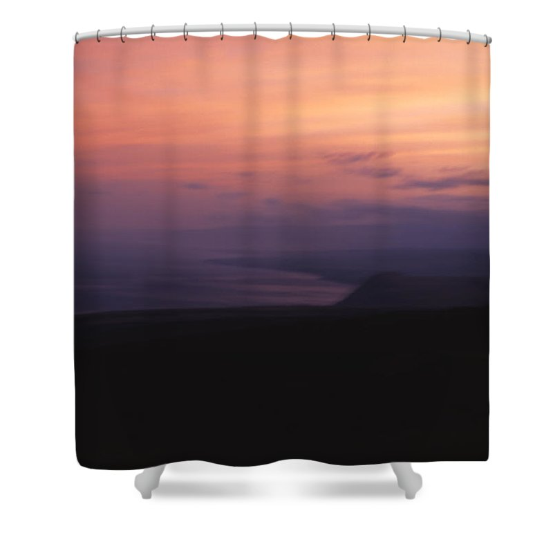 Sunset Shower Curtain featuring the photograph At Sundown by Ayesha Lakes