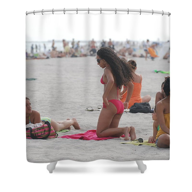 Girls Shower Curtain featuring the photograph At The Beach by Rob Hans