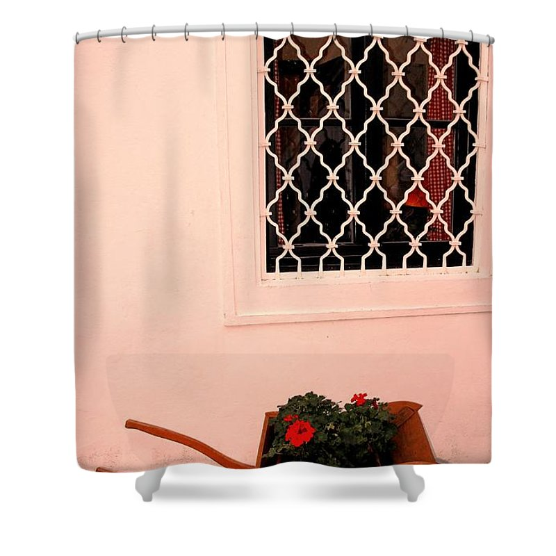 Vienna Shower Curtain featuring the photograph At The Winery by Ian MacDonald