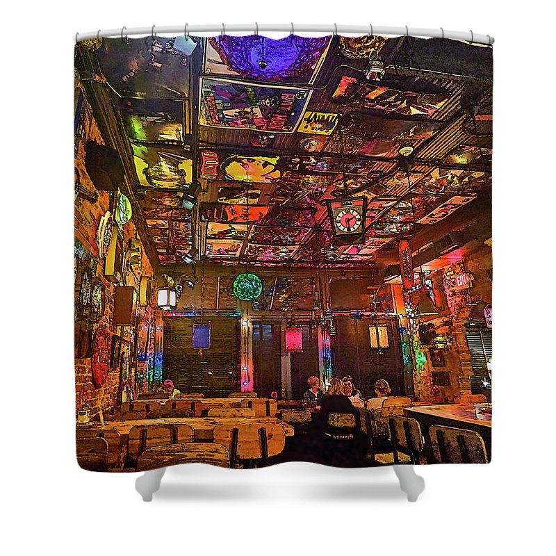 Ate Track Shower Curtain featuring the photograph Ate Track Bar by C H Apperson