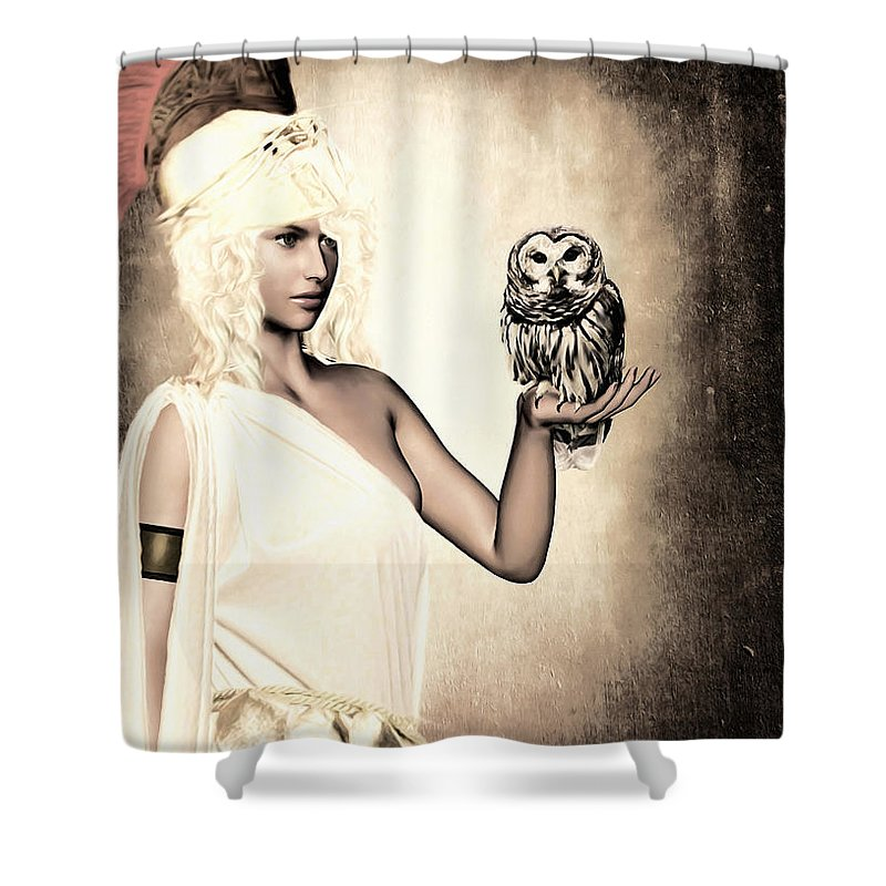 Athena Shower Curtain featuring the photograph Athena by Lourry Legarde