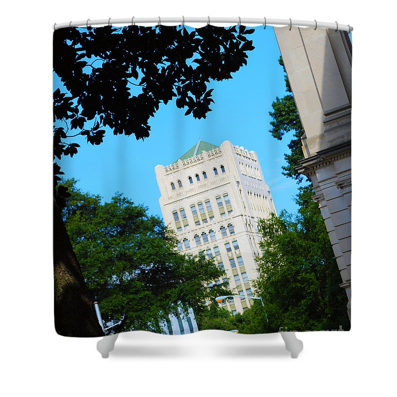 Atlanta Shower Curtain featuring the photograph Atl Corner by Kelley Sims