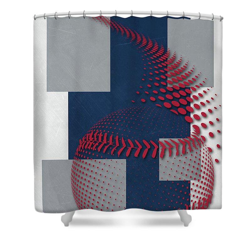 Draves Shower Curtain Featuring The Painting Atlanta Braves Art By Joe Hamilton