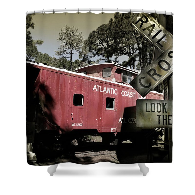 Atlantic Shower Curtain featuring the photograph Atlantic Coast Line Railroad Carriage by Mal Bray