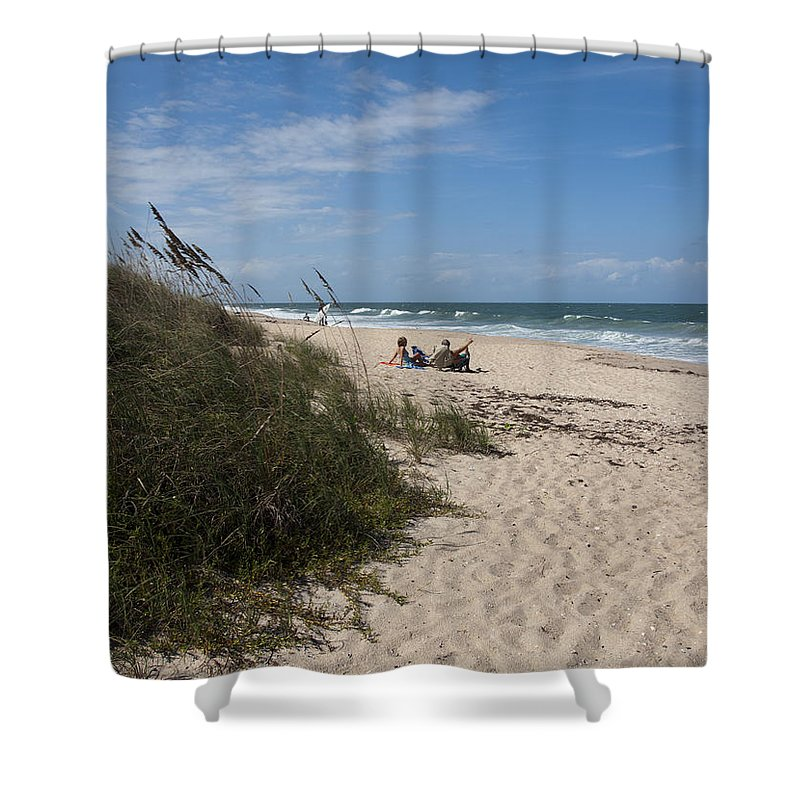 Beach Shower Curtain featuring the photograph Atlantic Ocean On The East Central Coast Of Florida by Allan Hughes