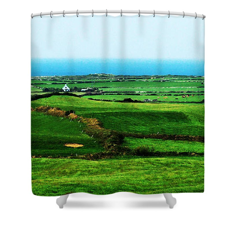 Ireland Shower Curtain featuring the photograph Atlantic View Doolin Ireland by Teresa Mucha