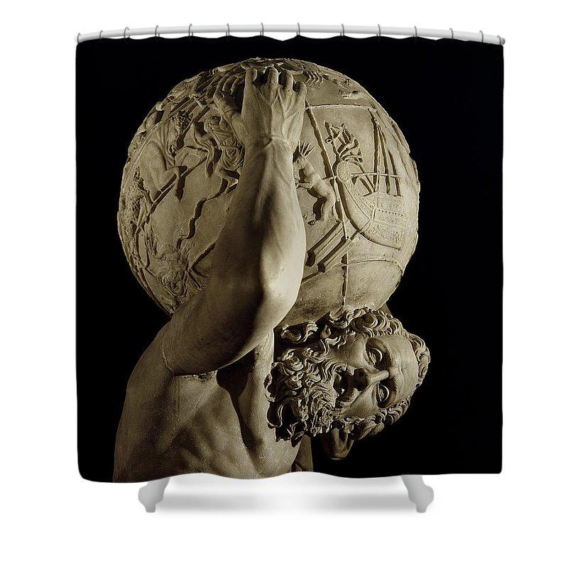 Atlas Shower Curtain For Sale By Roman School