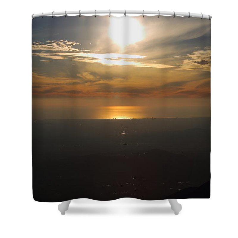 Atmosphere Shower Curtain featuring the photograph Atmosphere Vibes by Ricardo Perez