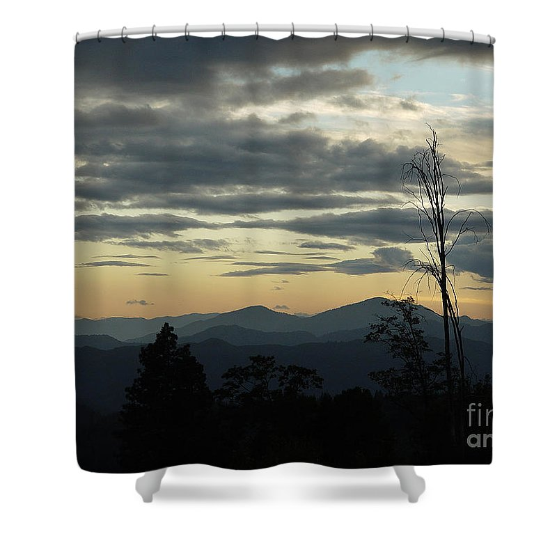 Atmospheric Shower Curtain featuring the photograph Atmospheric Perspective by Peter Piatt