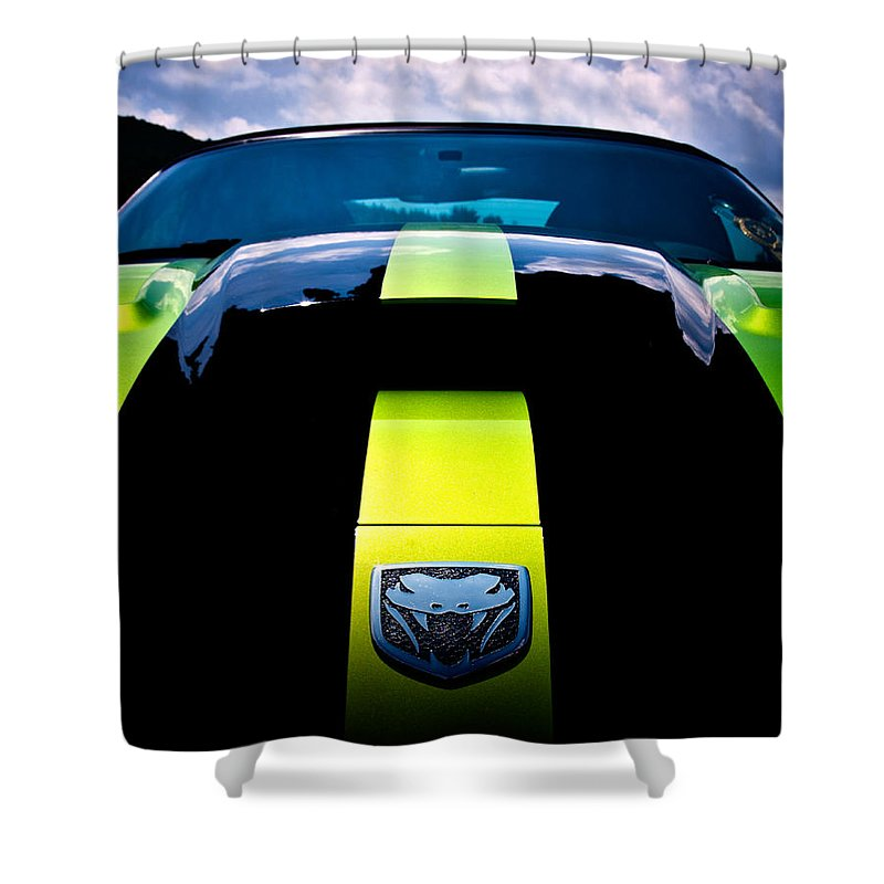 Dodge Shower Curtain featuring the photograph Attack Of The Viper by Scott Wyatt