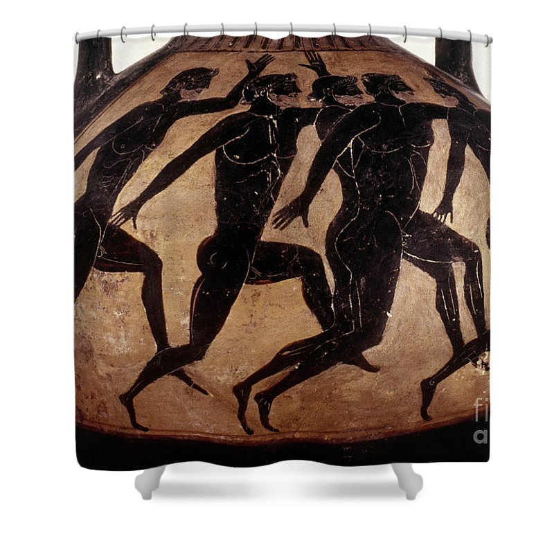 6th Century B.c Shower Curtain featuring the photograph Attic Black-figured Vase by Granger