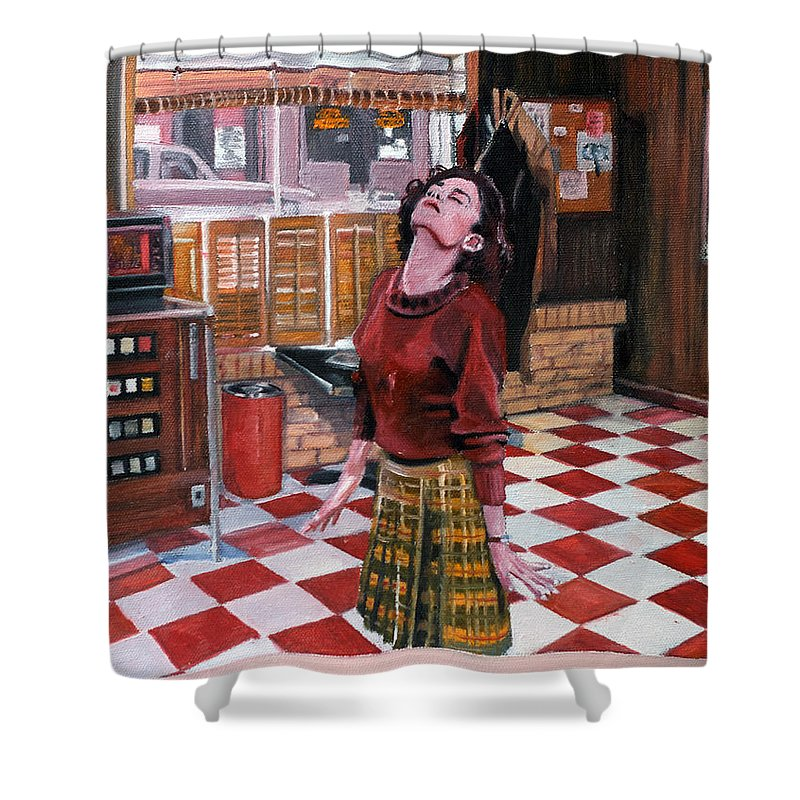 Twin Peaks Shower Curtain Featuring The Painting Audrey Horne Resident By Kevyn