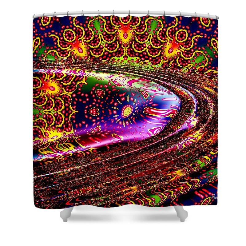 Wave Shower Curtain featuring the digital art August by Robert Orinski