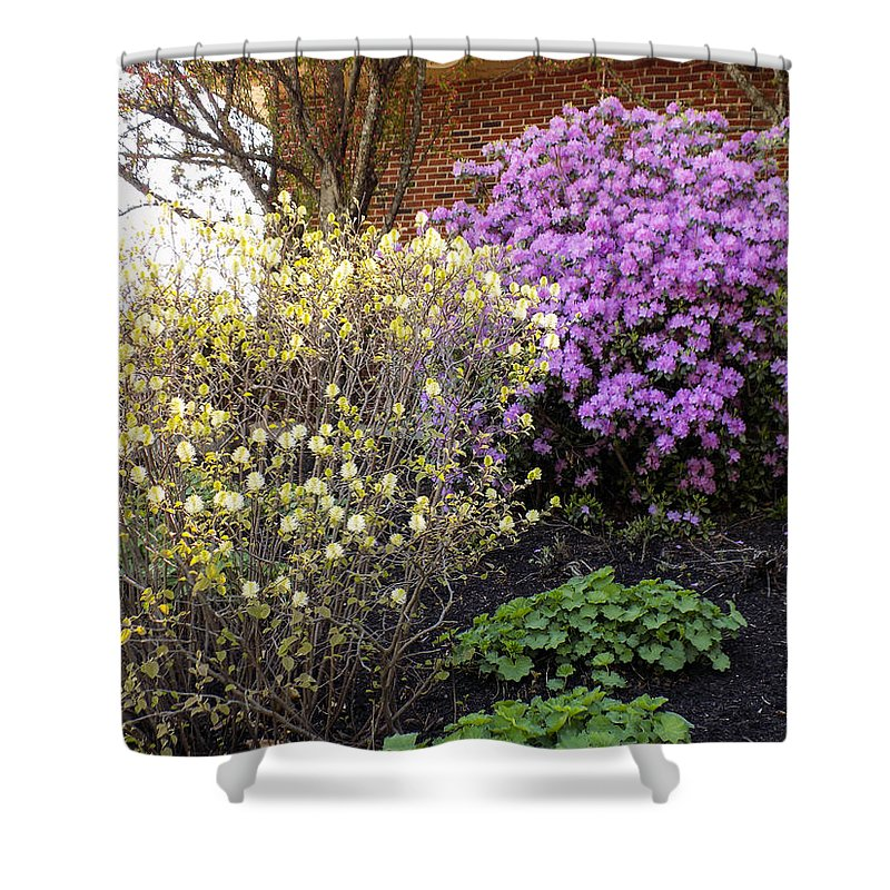 Spring Shower Curtain featuring the photograph Augusta Hotel Landscaping by William Tasker