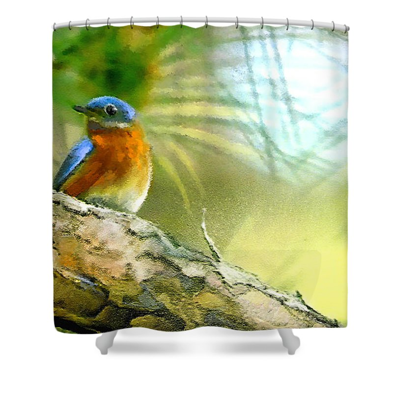 Golf Shower Curtain featuring the painting Augusta Masters 2010 05 by Miki De Goodaboom