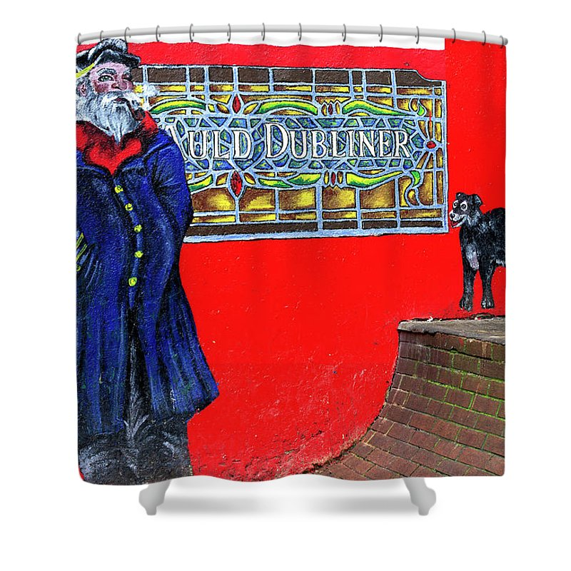 Auld Dubliner Shower Curtain featuring the photograph Auld Dubliner by John Rizzuto
