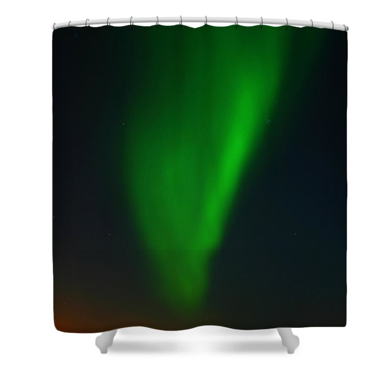 Aurora Borealis Shower Curtain featuring the photograph Aurora Borealis by Anthony Jones