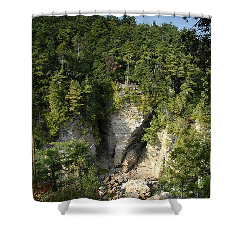 Ausable Chasm Shower Curtain featuring the photograph Ausable Chasm by David Lee Thompson