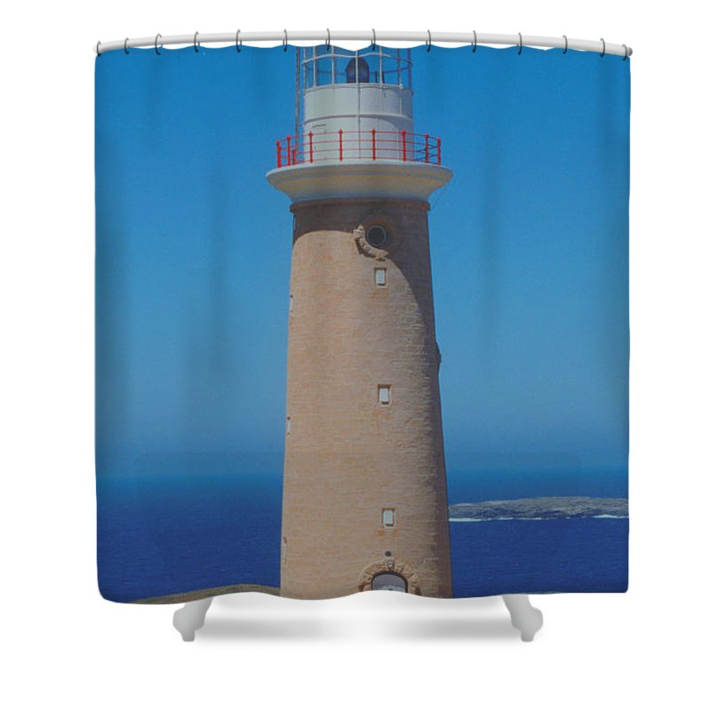Cape Du Coedic Shower Curtain featuring the photograph Australia Cape Du Coedic Light by Ron Swonger