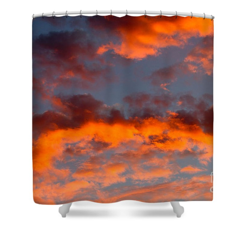 Sunset Shower Curtain featuring the photograph Australian Sunset by Louise Heusinkveld