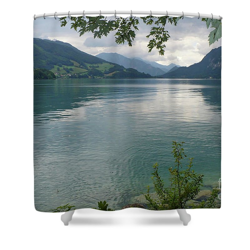 Austria Shower Curtain featuring the photograph Austrian Lake by Carol Groenen