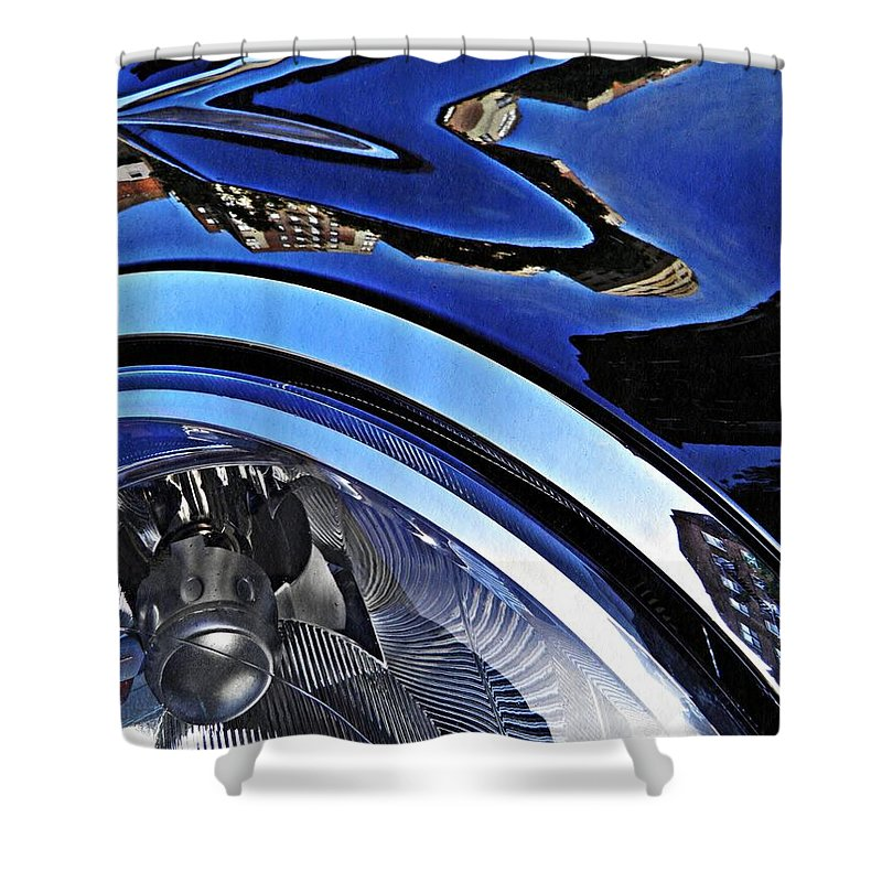 Headlight Shower Curtain featuring the photograph Auto Headlight 27 by Sarah Loft