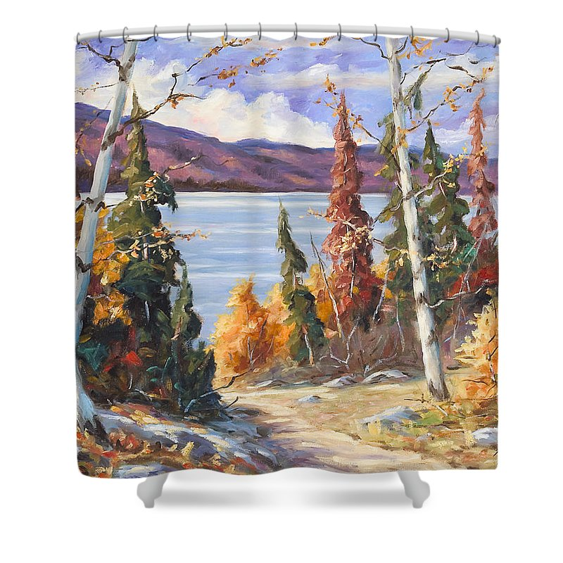 Art Shower Curtain featuring the painting Automn Colors by Richard T Pranke
