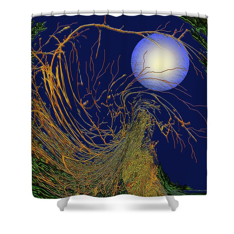 Seasons Shower Curtain featuring the digital art Autumn #5 by Wendy Sheridan