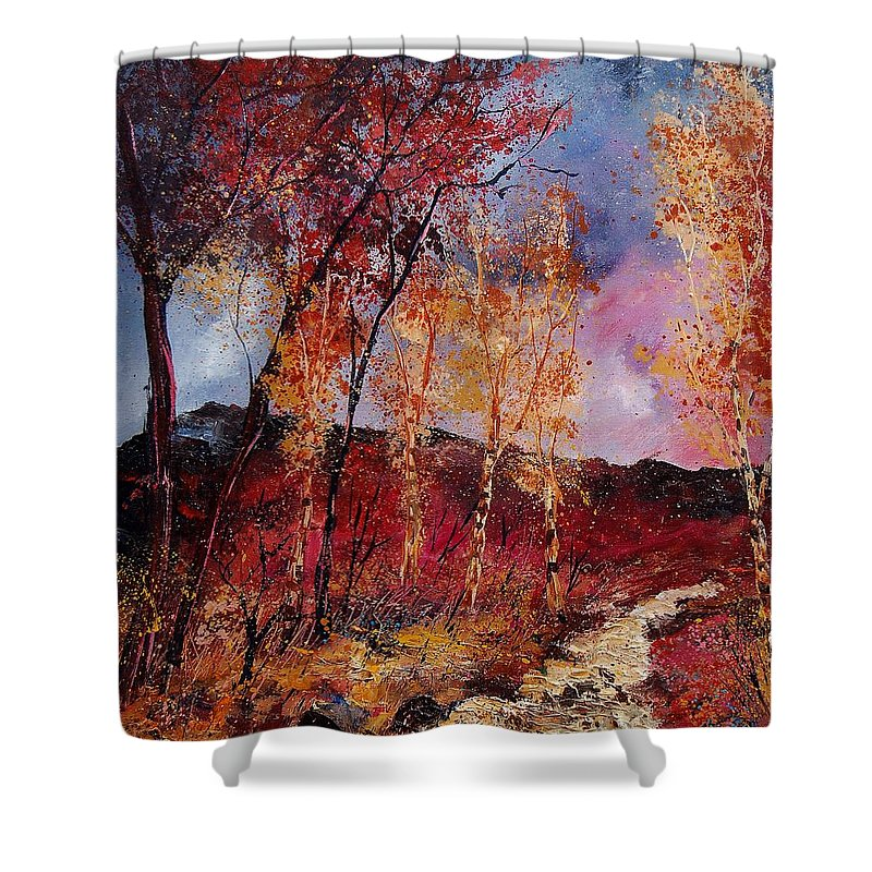 Tree Shower Curtain featuring the painting Autumn 6712545 by Pol Ledent