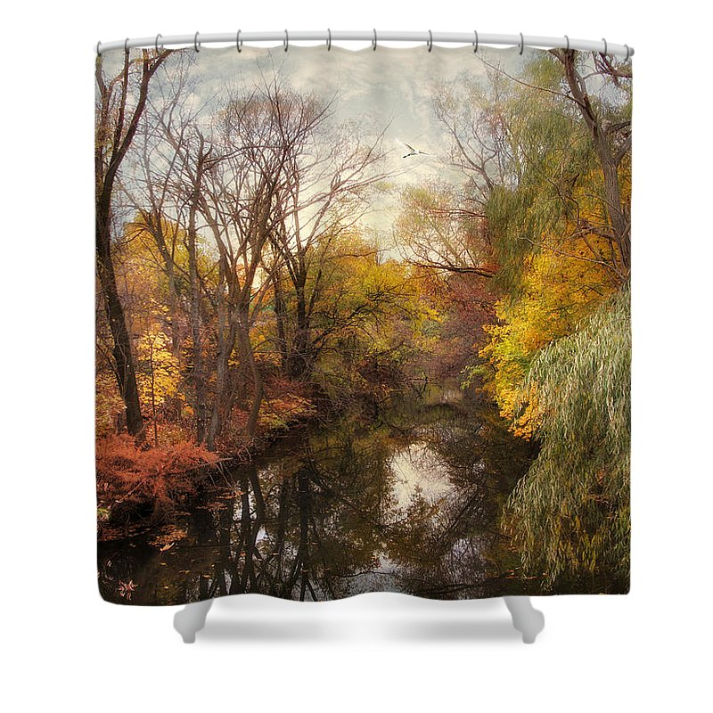 Nature Shower Curtain featuring the photograph Autumn Ambience by Jessica Jenney