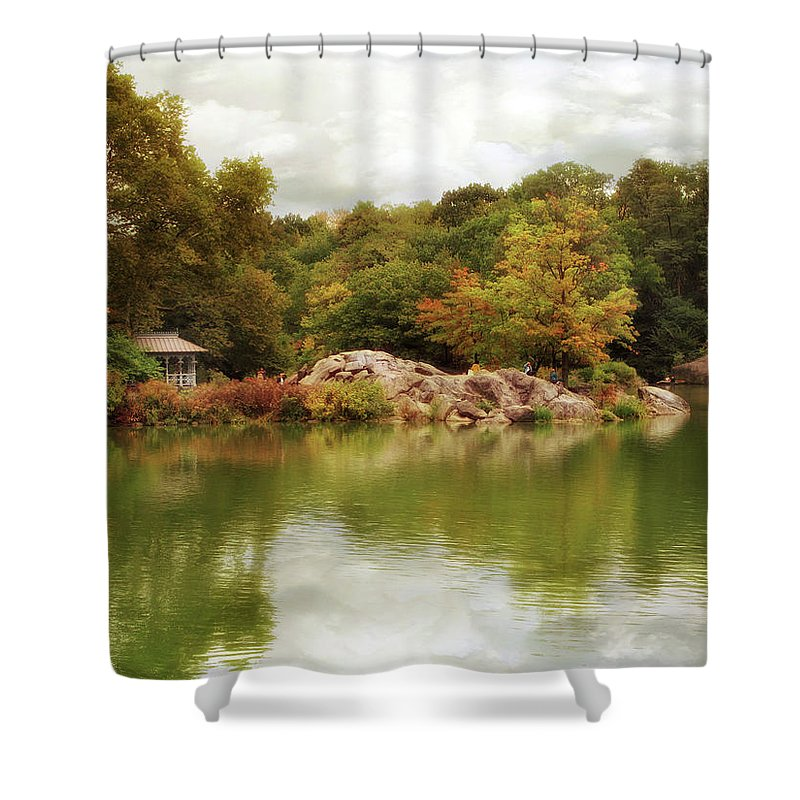 Nature Shower Curtain featuring the photograph Autumn At Hernshead by Jessica Jenney