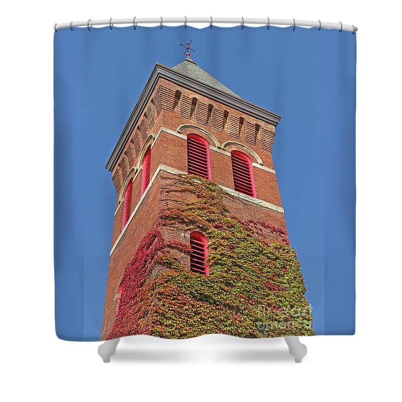 Ivy Shower Curtain featuring the photograph Autumn Color Match by Ann Horn