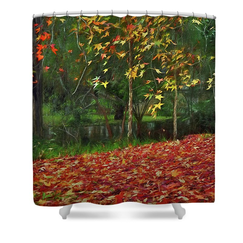Autumn Colors Shower Curtain featuring the photograph Autumn Colors by Kaye Menner