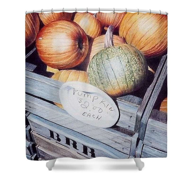 Orange Shower Curtain featuring the painting Autumn by Constance Drescher
