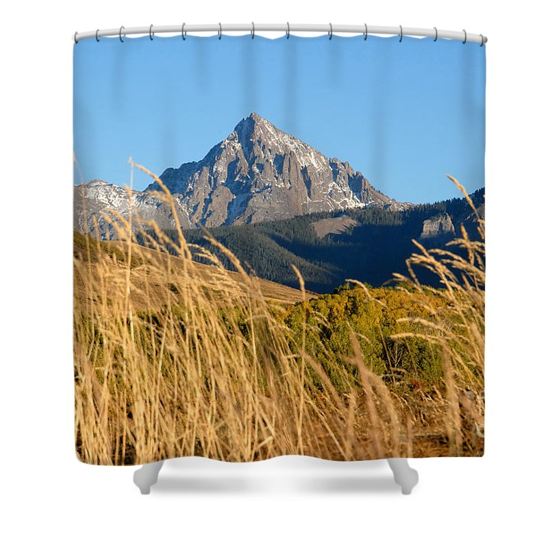 Fall Shower Curtain featuring the photograph Autumn Day by David Lee Thompson