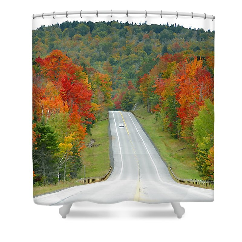 Autumn Shower Curtain featuring the photograph Autumn Drive by David Lee Thompson