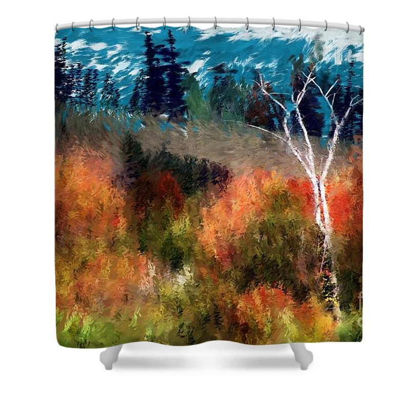 Digital Photo Shower Curtain featuring the digital art Autumn Feel by David Lane