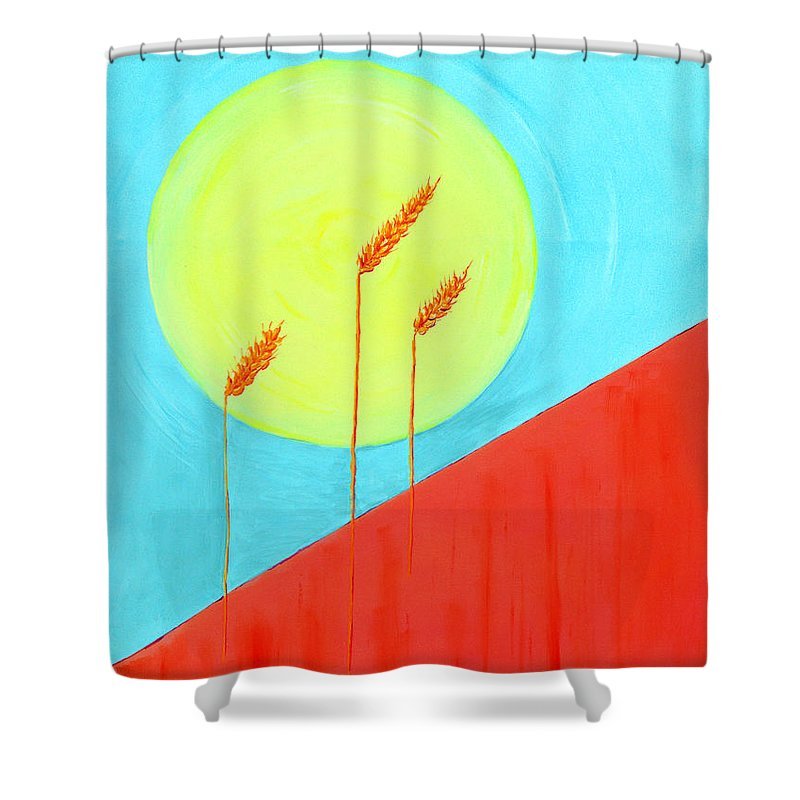 Impressionist Painting Shower Curtain featuring the painting Autumn Harvest by J R Seymour