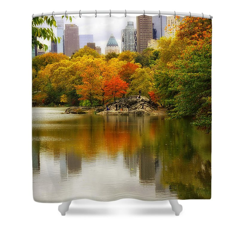 Nature Shower Curtain featuring the photograph Autumn In Central Park by Jessica Jenney