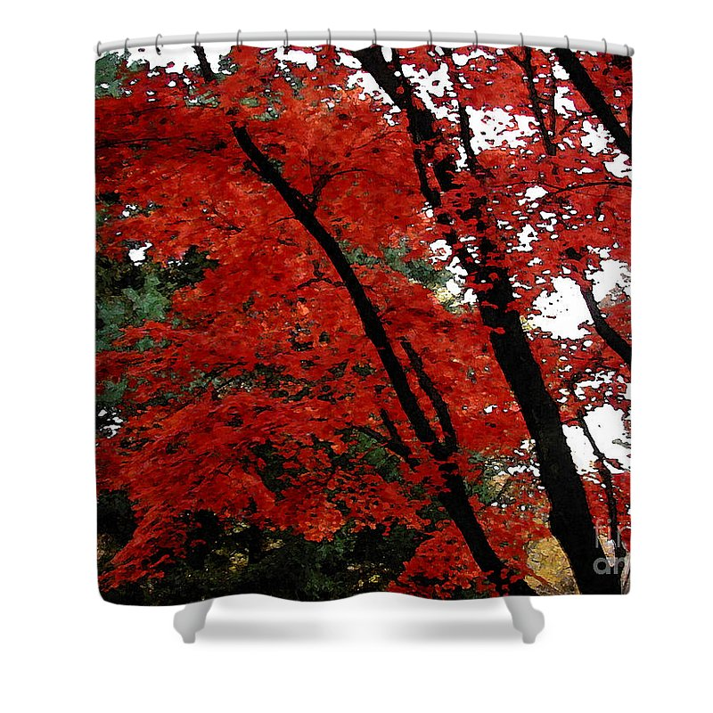 Autumn Shower Curtain featuring the photograph Autumn In New England by Melissa A Benson