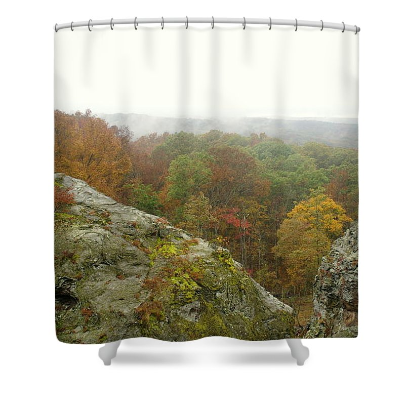 Shower Curtain featuring the photograph Autumn In Shawnee by Kitrina Arbuckle